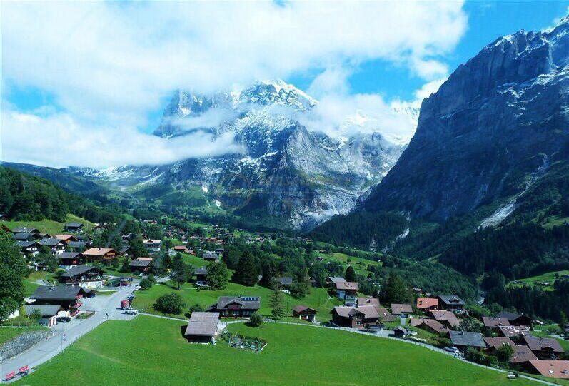 瑞士因特拉肯小镇